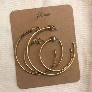 J.Crew Hoop Earrings Gold (2 pair)